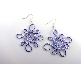 Celtic earrings spring lilac - aluminum - handmade
