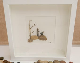 Pebble/Stone Art -'Walkies'