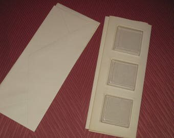 Set of cards and envelopes, scrapbooking, plastic window