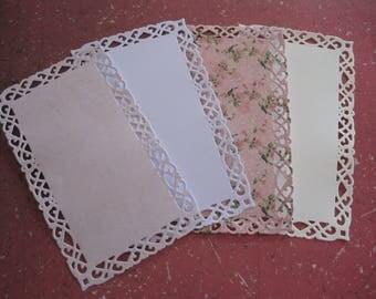 Lot cuts, dies, embellishments, bird, doilies, lace paper, a decorating