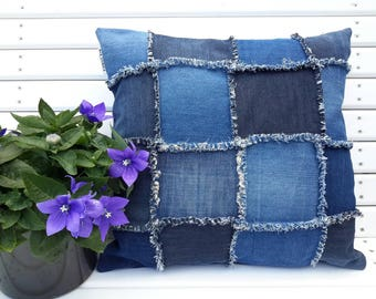 Jeans pillow 50 x 50 cm and 65 x 65 cm