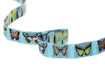 Theme butterflies multicolor 16mm - SC60106 - woven Ribbon