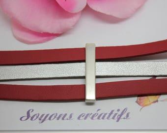 1 bar width silver high quality European 33 x 6 mm