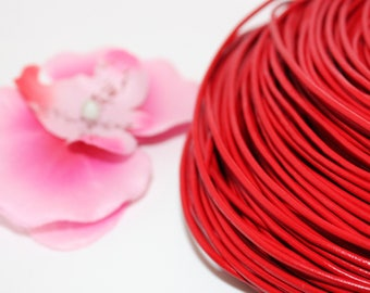 5 m of red 2mm - creating jewelry leather cord