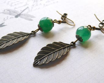 -Still Life - Aventurine earrings