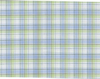 Cotton Scottish sky and green by 50cm x 150cm width