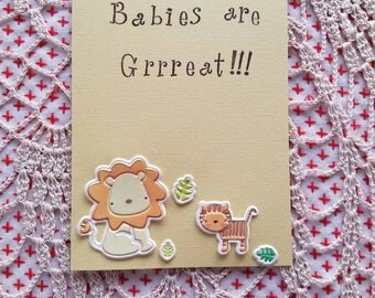 Baby Shower or to welcome a new baby card (blank)
