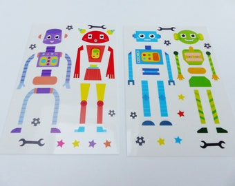 reusable stickers for window 2 robot print reusable window sticker decals 4 robots