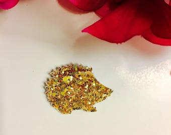 Hedgehog brooch sequins