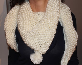Great scarf-white knit scarf