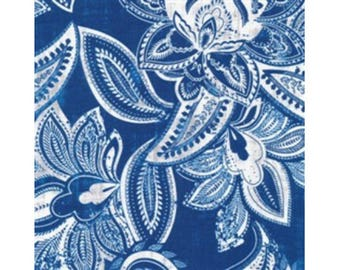Patchwork blue and white 100% cotton fabric