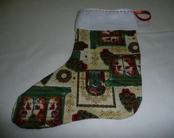 large boot Christmas beige for gifts or decor
