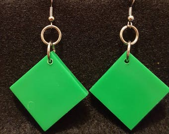Flashback to the 80's Earrings in Primary Green