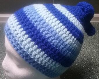 Zipfelmütze / Mütze mit dem wahren Zipfel / Beanie für Teenager & Skater / Häkelmütze crochet beanie / KU 54 - 57 cm /