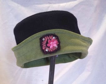 child Hat wave flower mohair