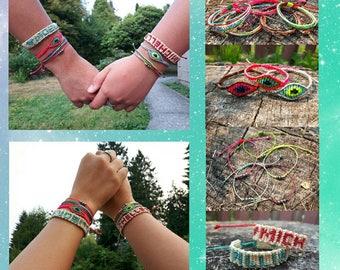 4 Friendship Macrame Bracelets set