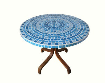 Ocean mosaic top coffee table