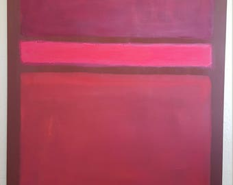 Large Color Field Wall Art Original by Rick Rathke Oil on canvas. Painted in 2017
