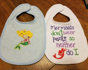 Two Pack of Mermaid Bibs