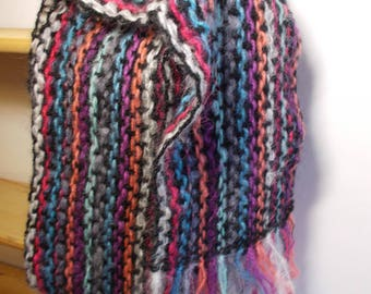 Light and airy weave style crochet scarf