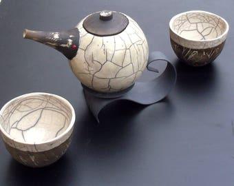 Teapot ceramic raku
