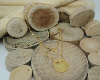 """Gold """"Coin Make a Wish"""" necklace"""