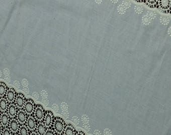 Couture Border Embroidered Eyelet Fabric