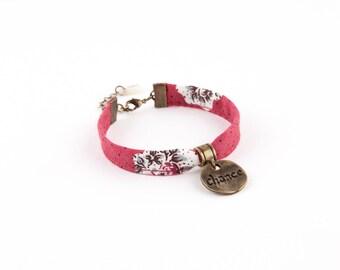 Pink brass ornate CHABENCO bracelet