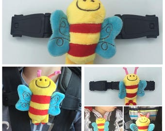 Buggy clip / harness safety strap to stop arms escaping the straps during your travels or feeding