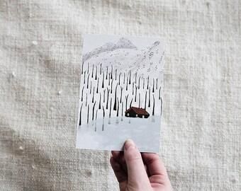Winter Cabin - Card