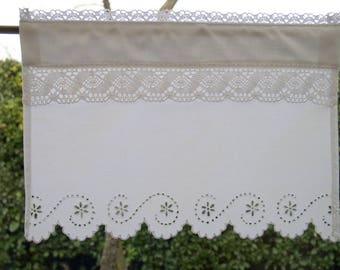 Handmade curtain breeze-view(-sight) Lopez and Richelieu embroidery