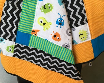 Little Monsters Baby Blanket