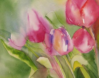 Tulips - Figurative watercolor