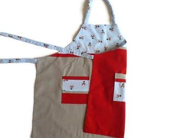 """Snowmen"" child apron"
