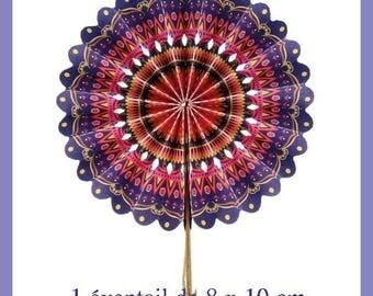 1 pretty floral 8 x 10 - new paper fan