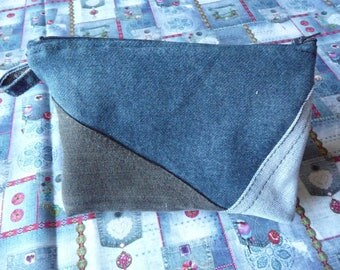Kit made by hand recycled denim.