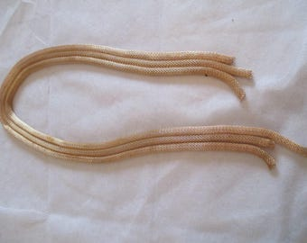 48cm gold plated tubular mesh Ribbon