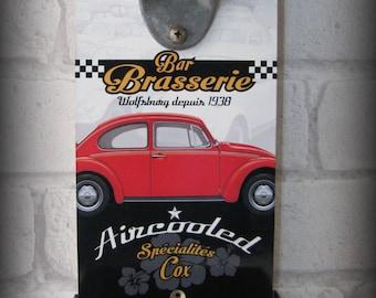 bottle opener wall volkswagen cox by deco cars