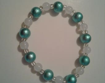 Mint green stretch bracelet