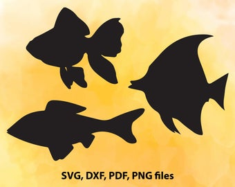 Fish svg file, Fish clipart, Nautical svg, Fish silhouette, Svg files for Silhouette Cameo, Cut files for Cricut, png eps svg pdf dxf
