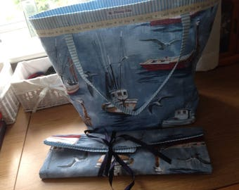 Fishing boat pattern bag.