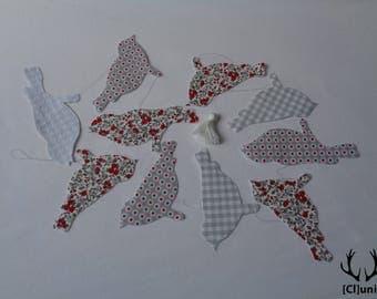 Garland of ten bird fabric