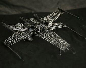 Star wars, X-wing, wire sculpture