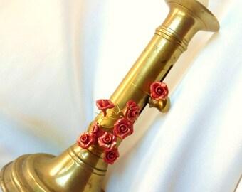 Christmas rose on stem for decoration