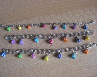 Bracelet with multi-colored berlingots (of your choice)
