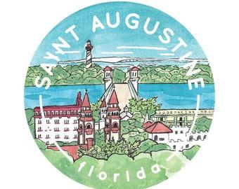 Saint Augustine, Florida Travel Sticker