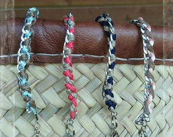 Braided chain bracelet