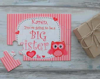 Big Sister Announcement, You're Going To Be A Big Sister Personalized Puzzle, Big Sister Puzzle, Big Sister To Be, New Big Sister Gift