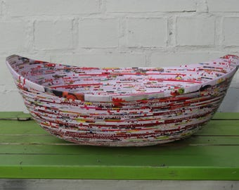 Recycled paper boat bowl