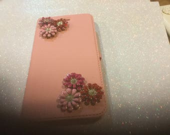 Blinged IPhone 6 handmade flip open case, Ready for your phone! Ready to mail to you !